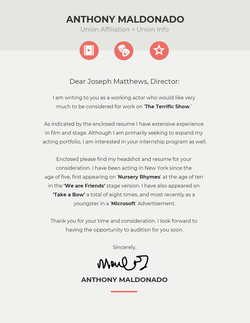 Template Of A Cover Letter Inspirational 10 Cover Letter Templates and Expert Design Tips to