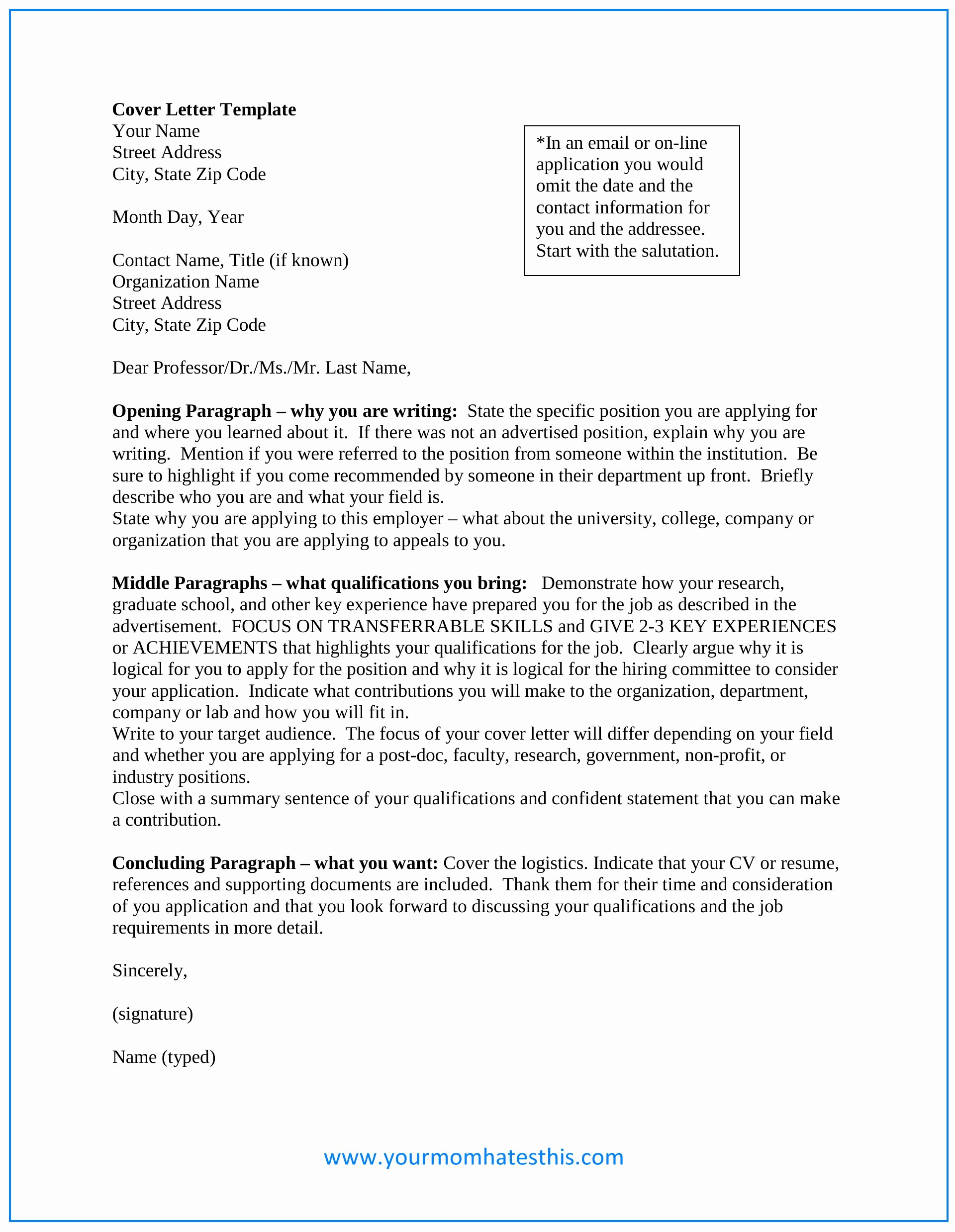 Template Of A Cover Letter New Download Cover Letter Samples