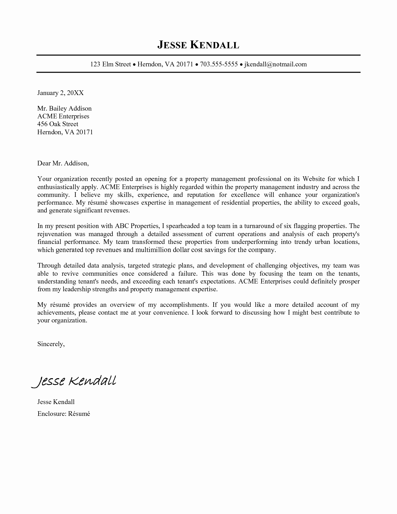 Template Of A Cover Letter New Standard Cover Letter Template Templates Station