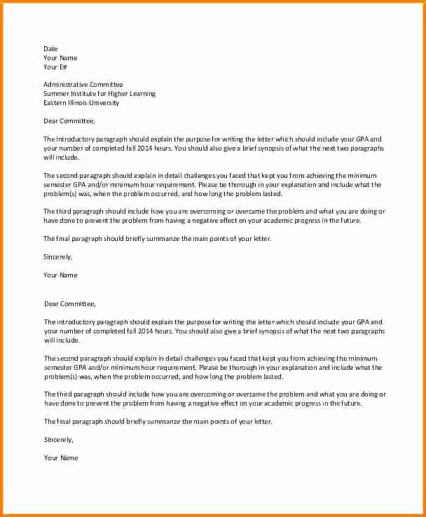 Template to Write A Letter Awesome 10 Academic Suspension Appeal Letter Sample
