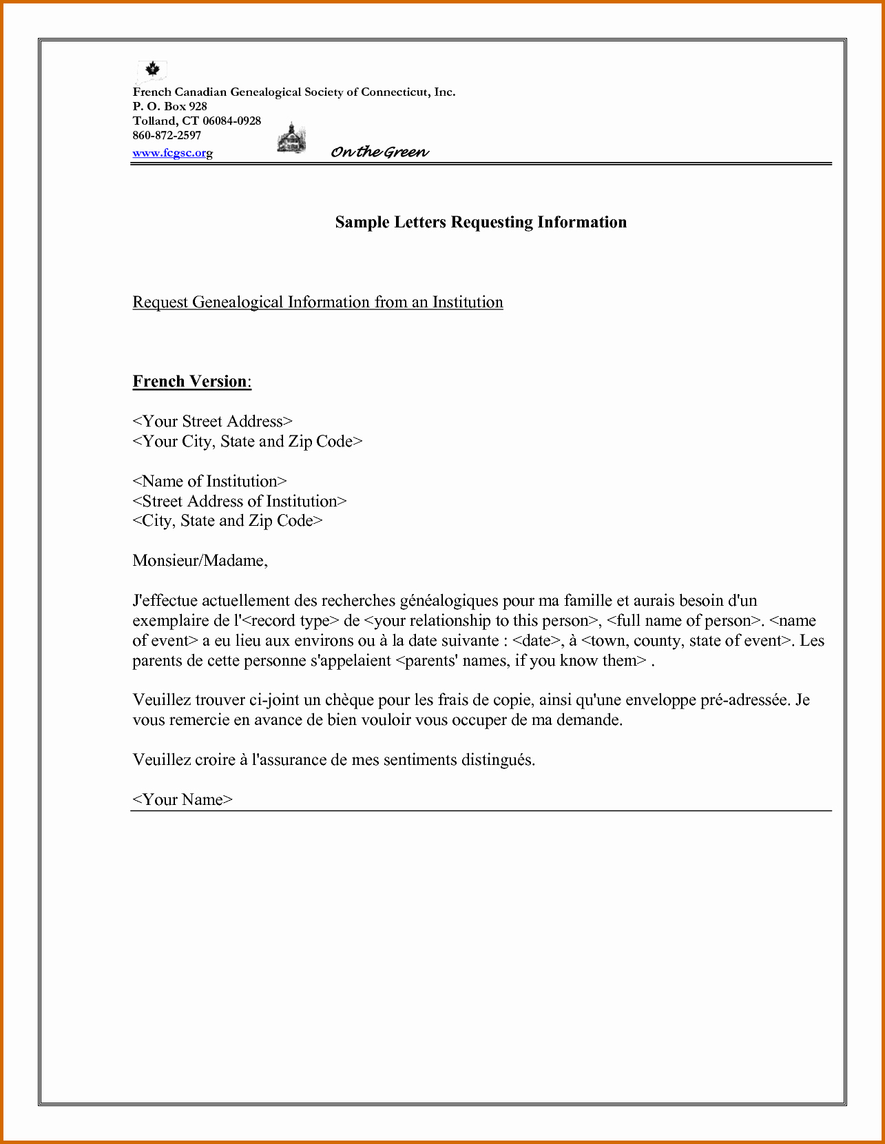 Template to Write A Letter Beautiful 6 Information Letter format