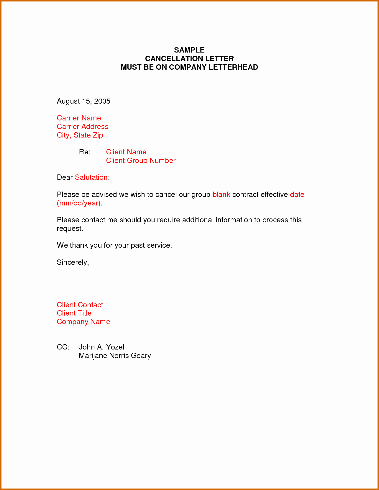 Template to Write A Letter Best Of 10 How to Write A Letter to Cancel A Policy