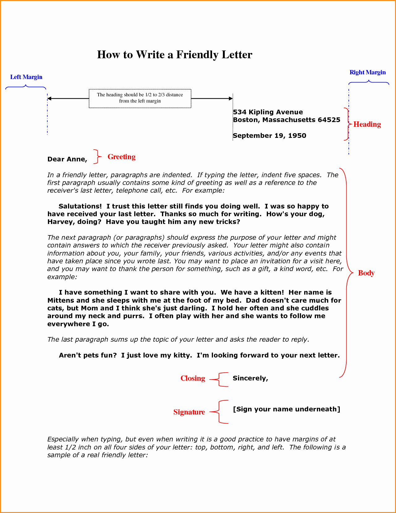 Template to Write A Letter Elegant 9 Friendly Letters Example