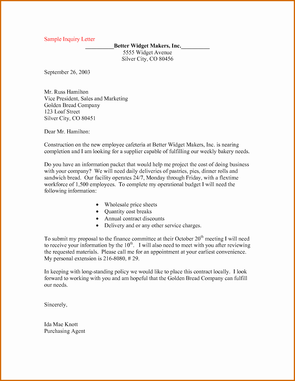 Template to Write A Letter Inspirational 12 How to Write A Letter Of Inquiry Sample