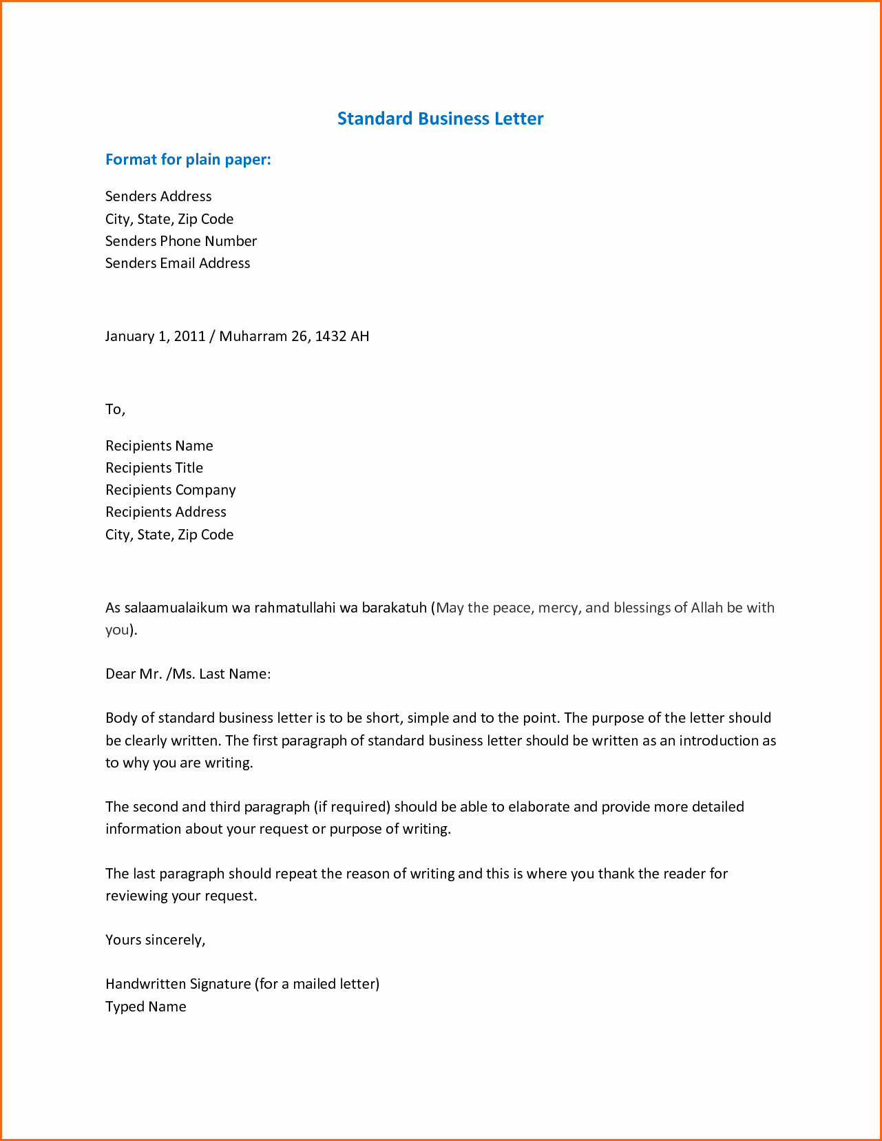 Template to Write A Letter Inspirational 7 format for Business Letter Bud Template Letter