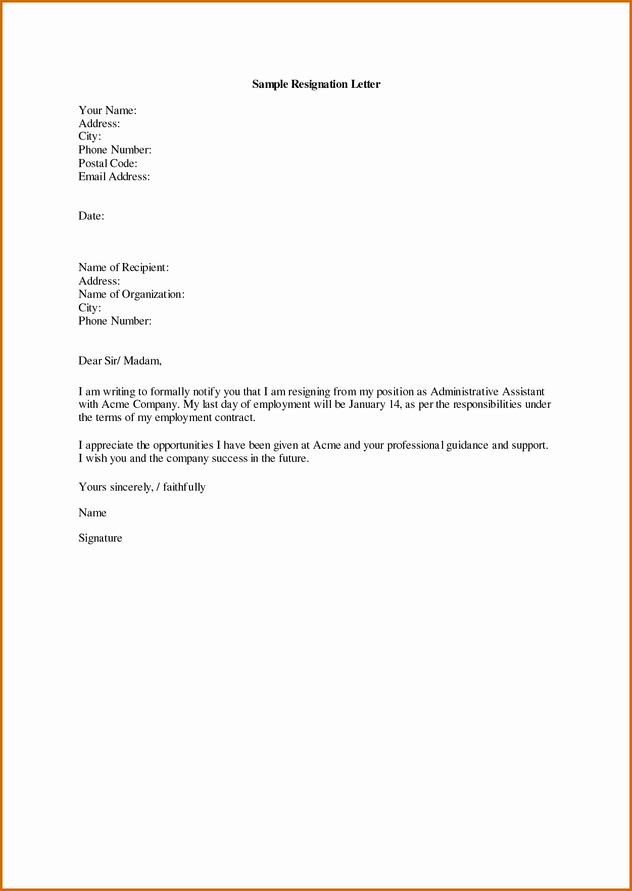 Template to Write A Letter Luxury 10 How to Write A Notice Letter Example