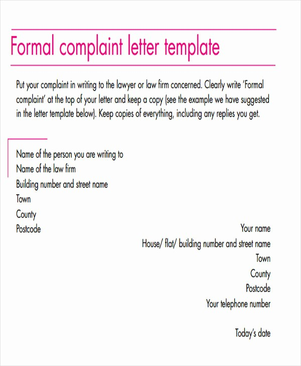 Template to Write A Letter New 47 formal Letter Examples Pdf Word