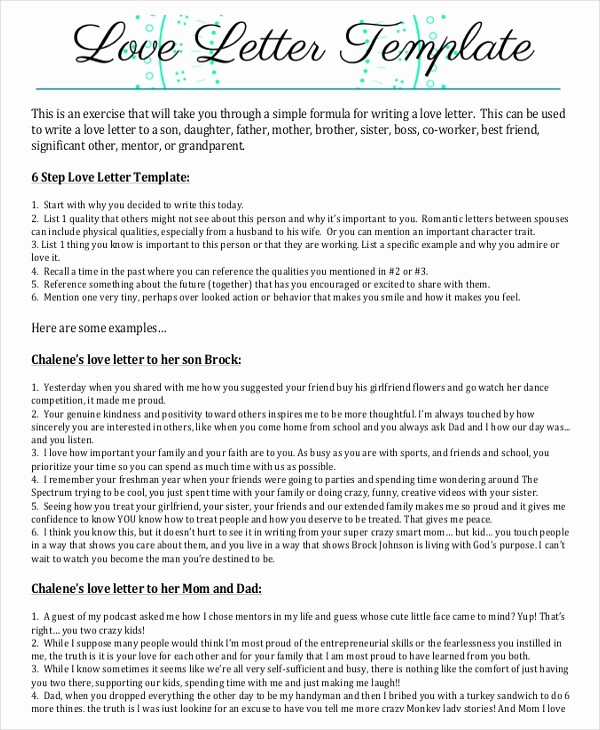 Template to Write A Letter New Love Letter – 10 Free Word Pdf Documents Download