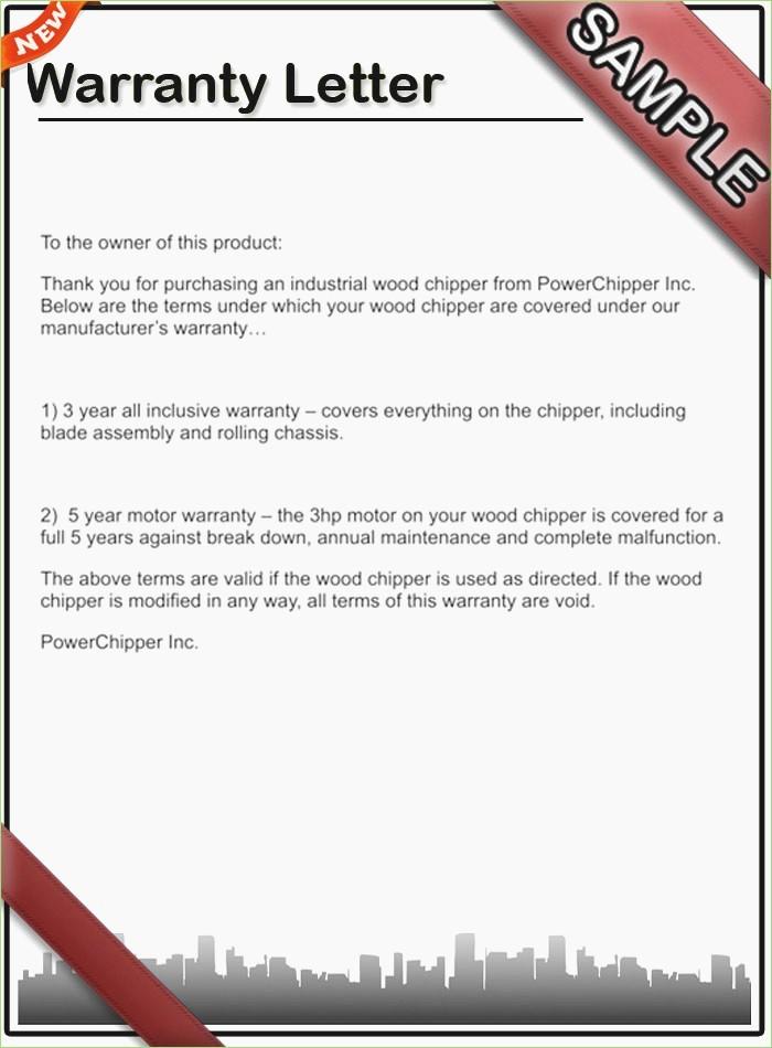 Template to Write A Letter Unique Warranty Letter format – thepizzashop
