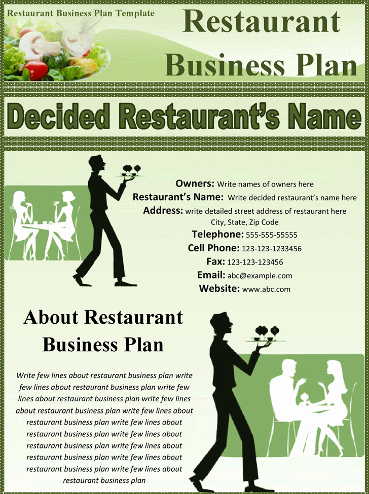 Templates for A Business Plan Awesome 32 Free Restaurant Business Plan Templates In Word Excel Pdf