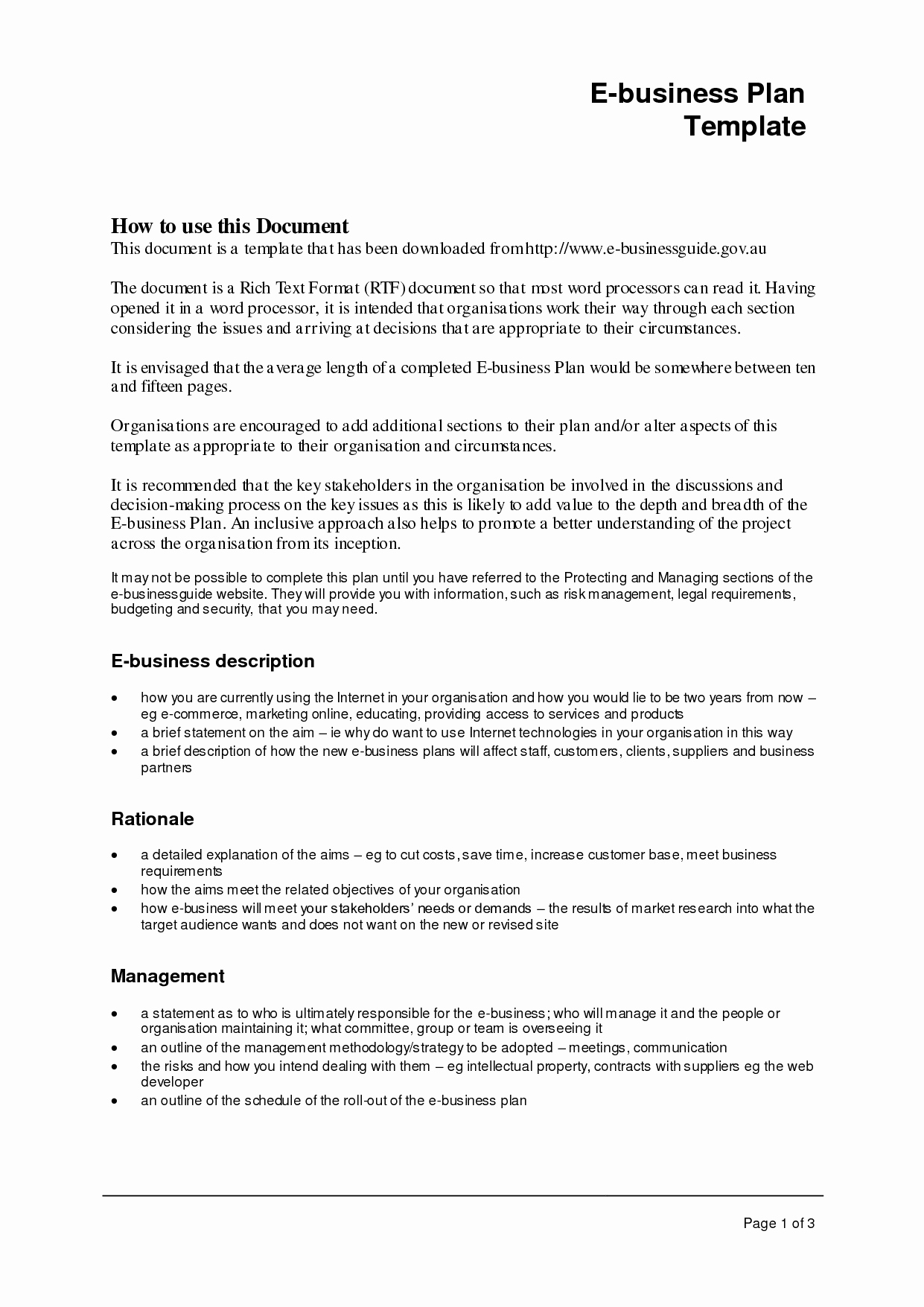 Templates for A Business Plan Awesome Business Plan format Template