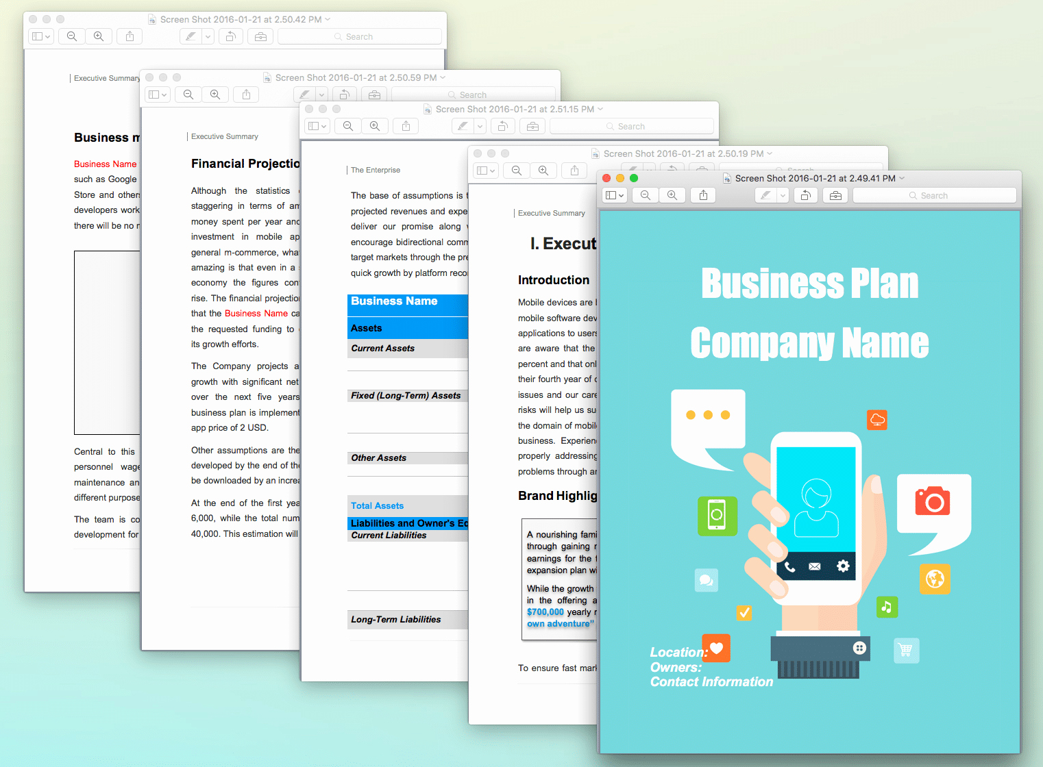 Templates for A Business Plan Awesome Mobile App Concept Business Plan Template Sample Pages