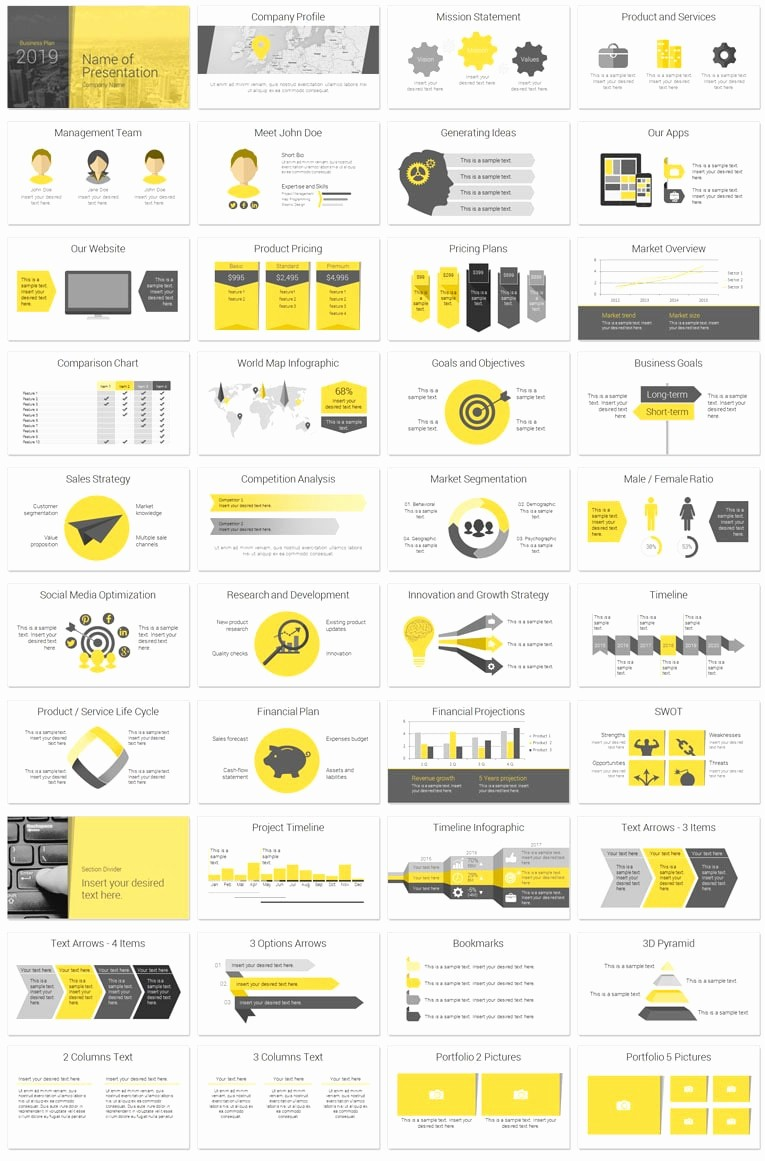 Templates for A Business Plan Awesome Modern Business Plan Powerpoint Template