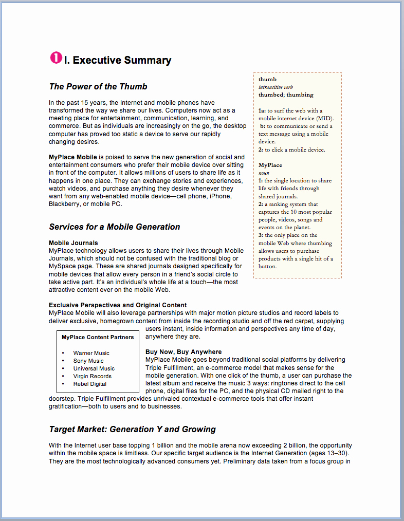 Templates for A Business Plan Elegant Sample Business Plan