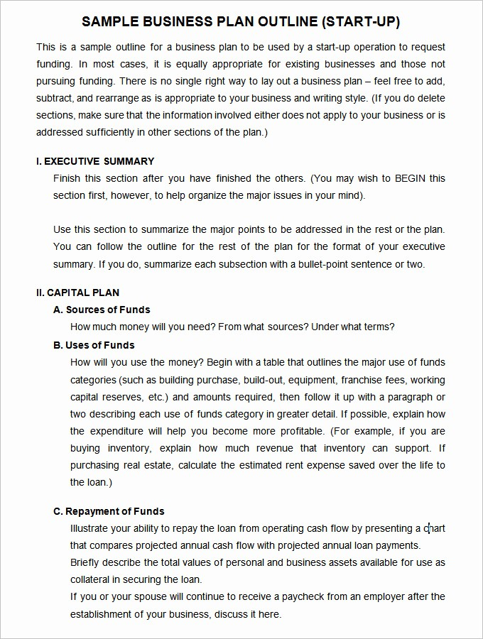 Templates for A Business Plan Inspirational 11 Startup Business Plan Templates to Foster Your Pany