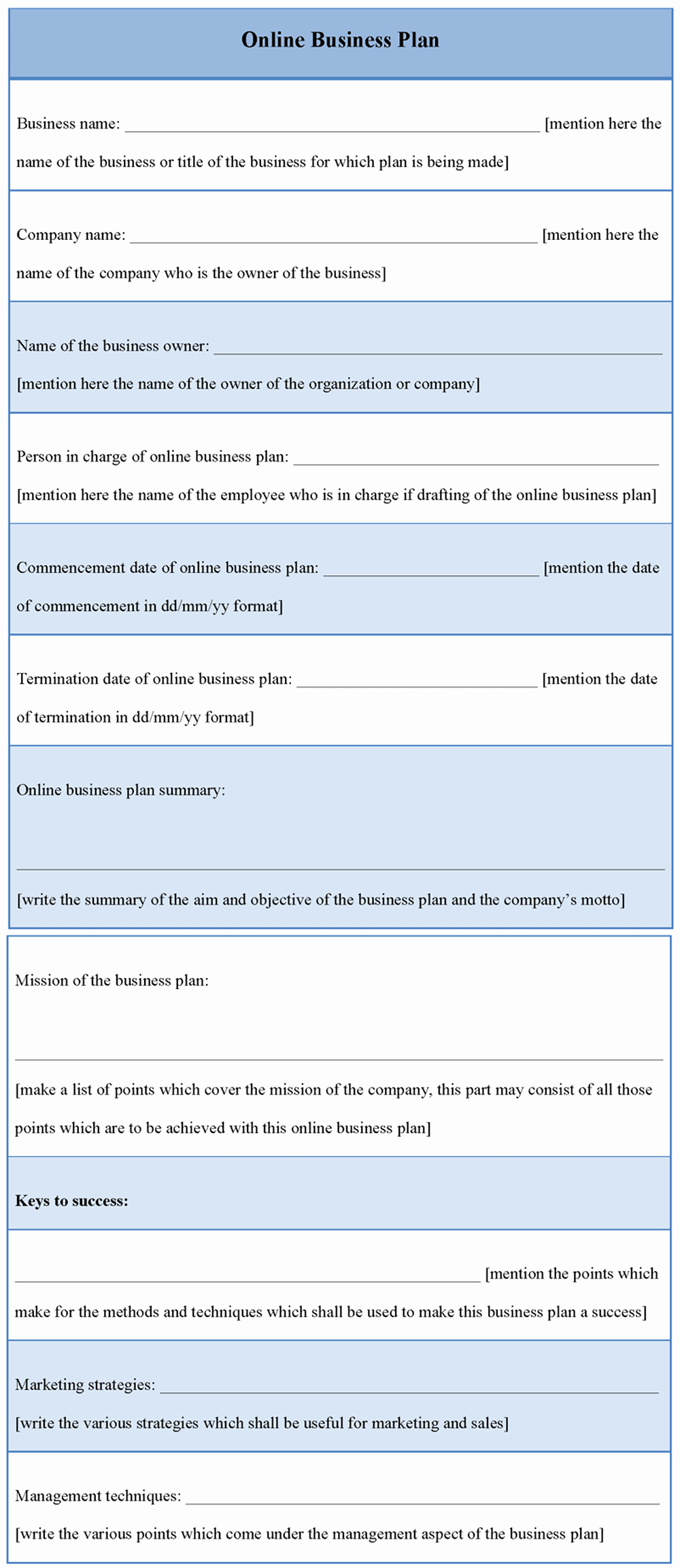 Templates for A Business Plan Lovely Plan Template for Line Business Template Of Line