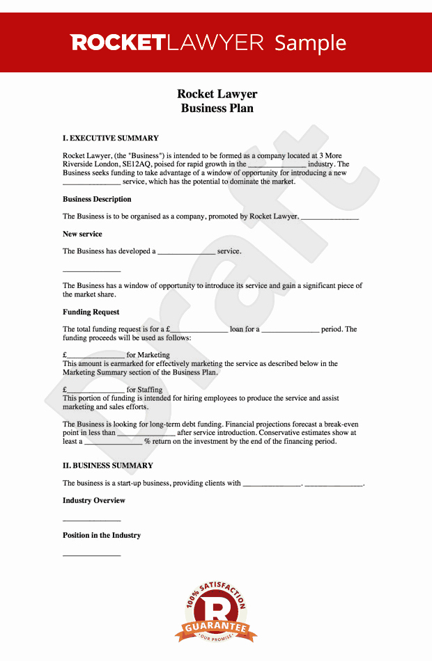 Templates for A Business Plan New Business Plan Template Free How to Write A Business Plan