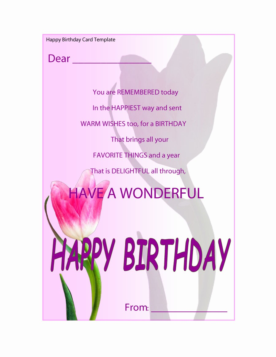Templates for Cards Free Downloads Fresh 40 Free Birthday Card Templates Template Lab