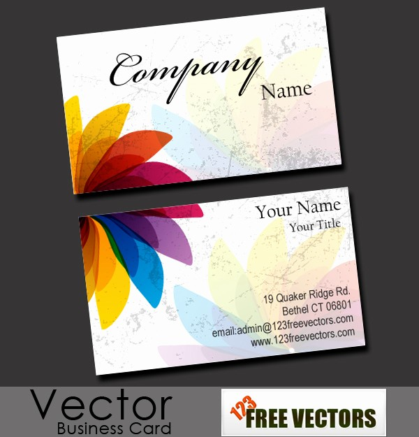 Templates for Cards Free Downloads Fresh Free Business Card Vector