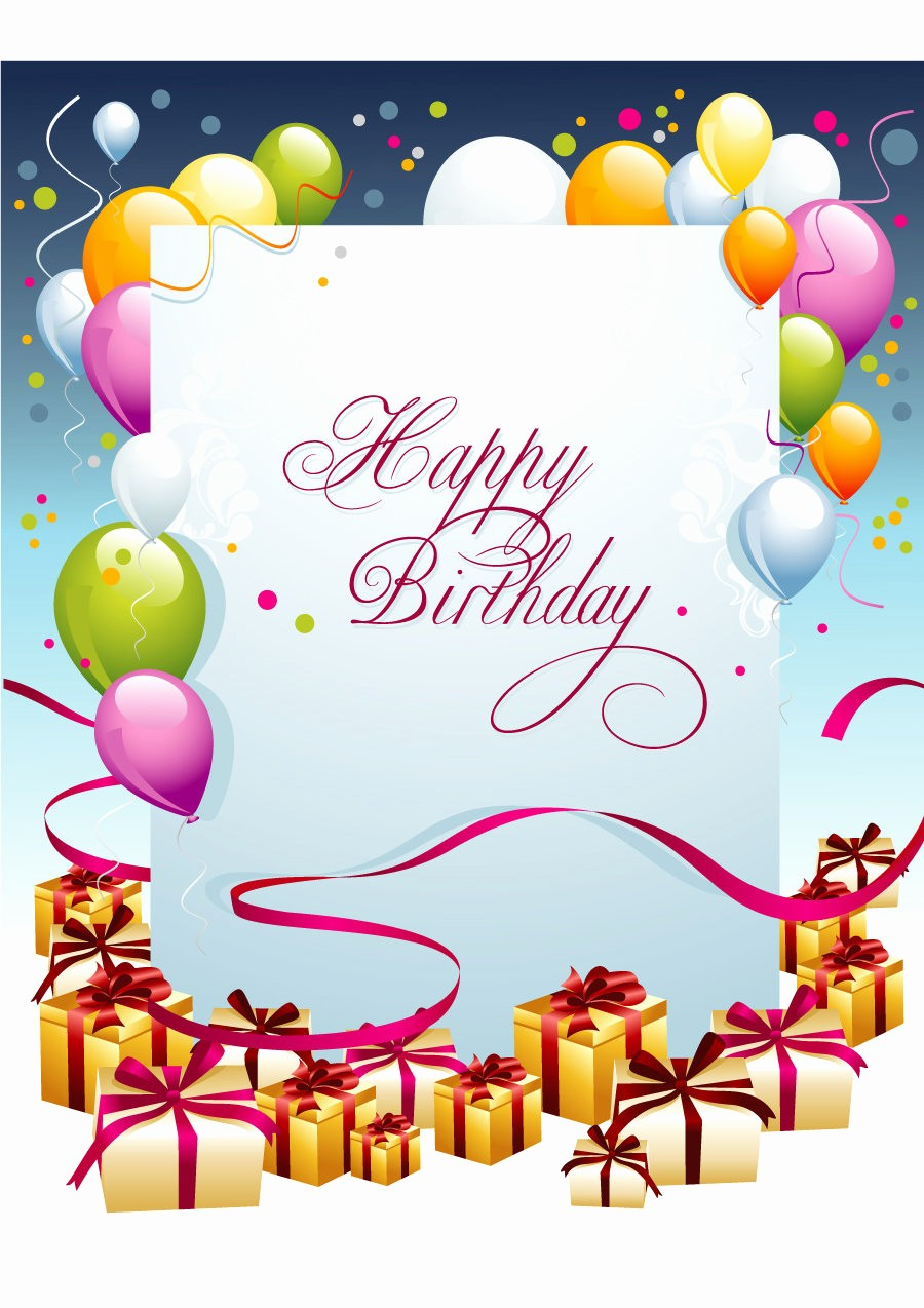 Templates for Cards Free Downloads Inspirational 40 Free Birthday Card Templates Template Lab