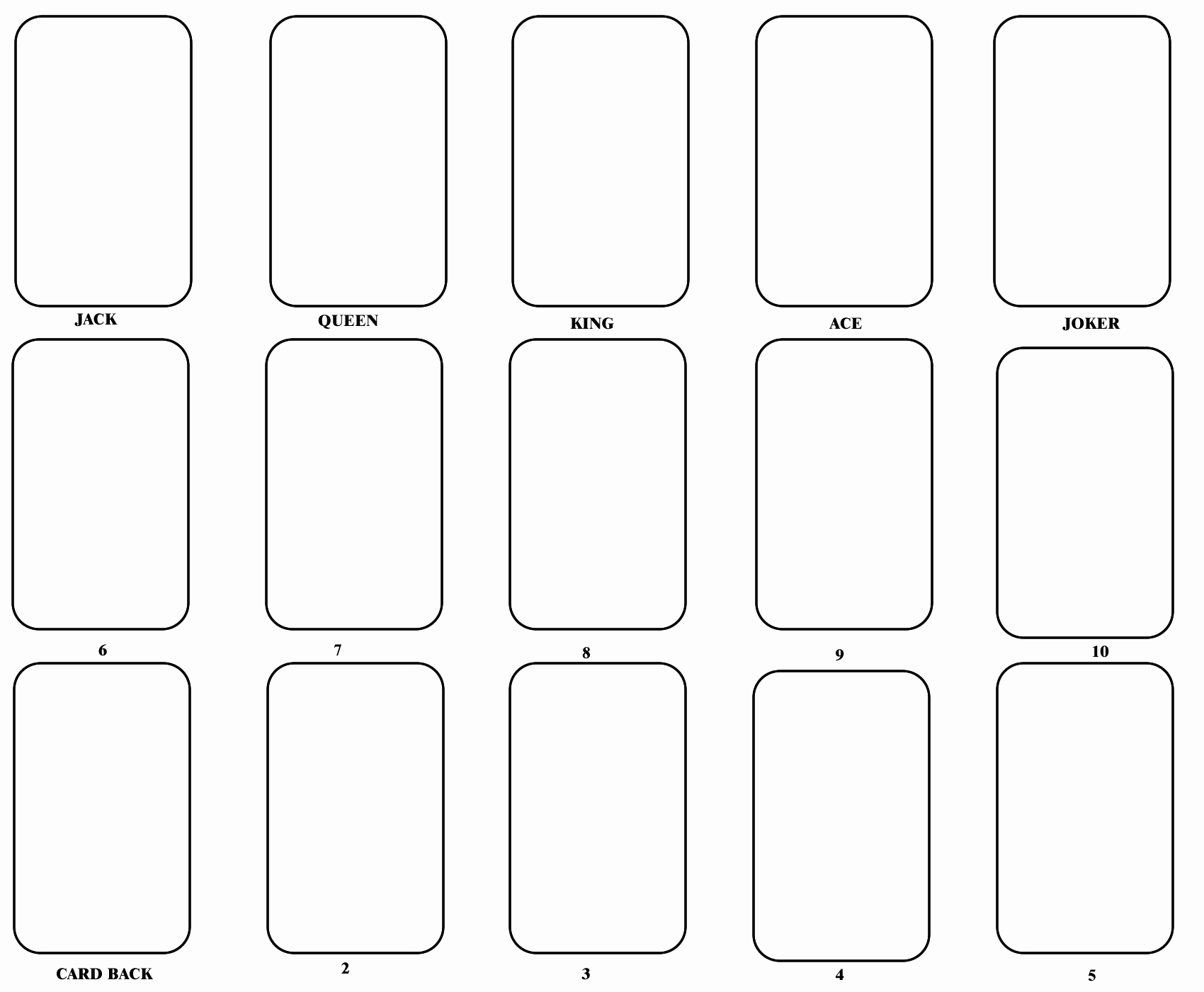 Templates for Cards Free Downloads Unique 8 Best Of Blank Playing Card Printable Template for