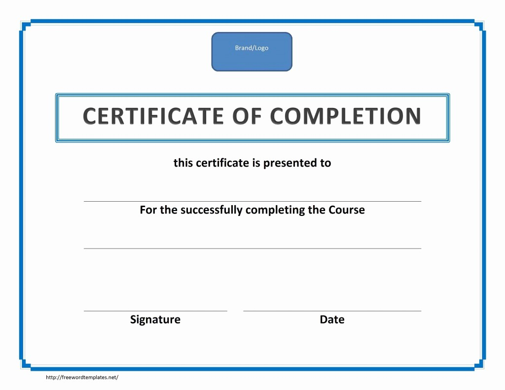 Templates for Certificates Of Completion Best Of Training Certificate Of Pletion