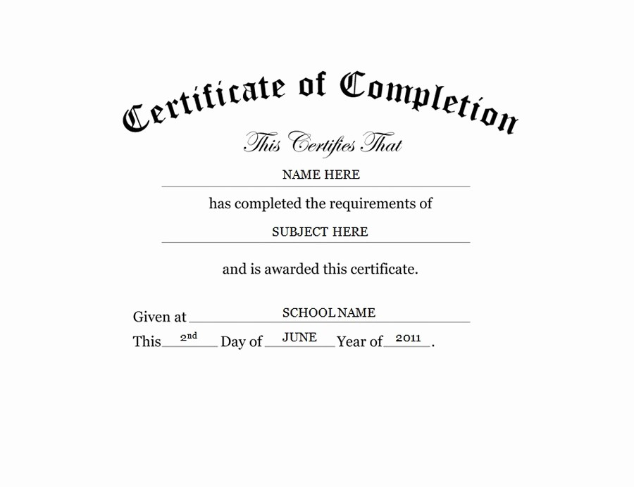 Templates for Certificates Of Completion Inspirational Geographics Certificates