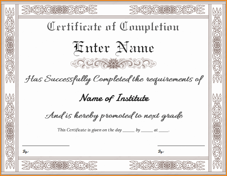 Templates for Certificates Of Completion Lovely 5 Certificate Of Pletion Templates