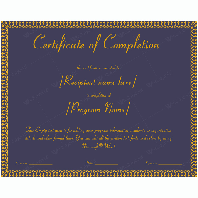 Templates for Certificates Of Completion Lovely 89 Elegant Award Certificates for Business and School events
