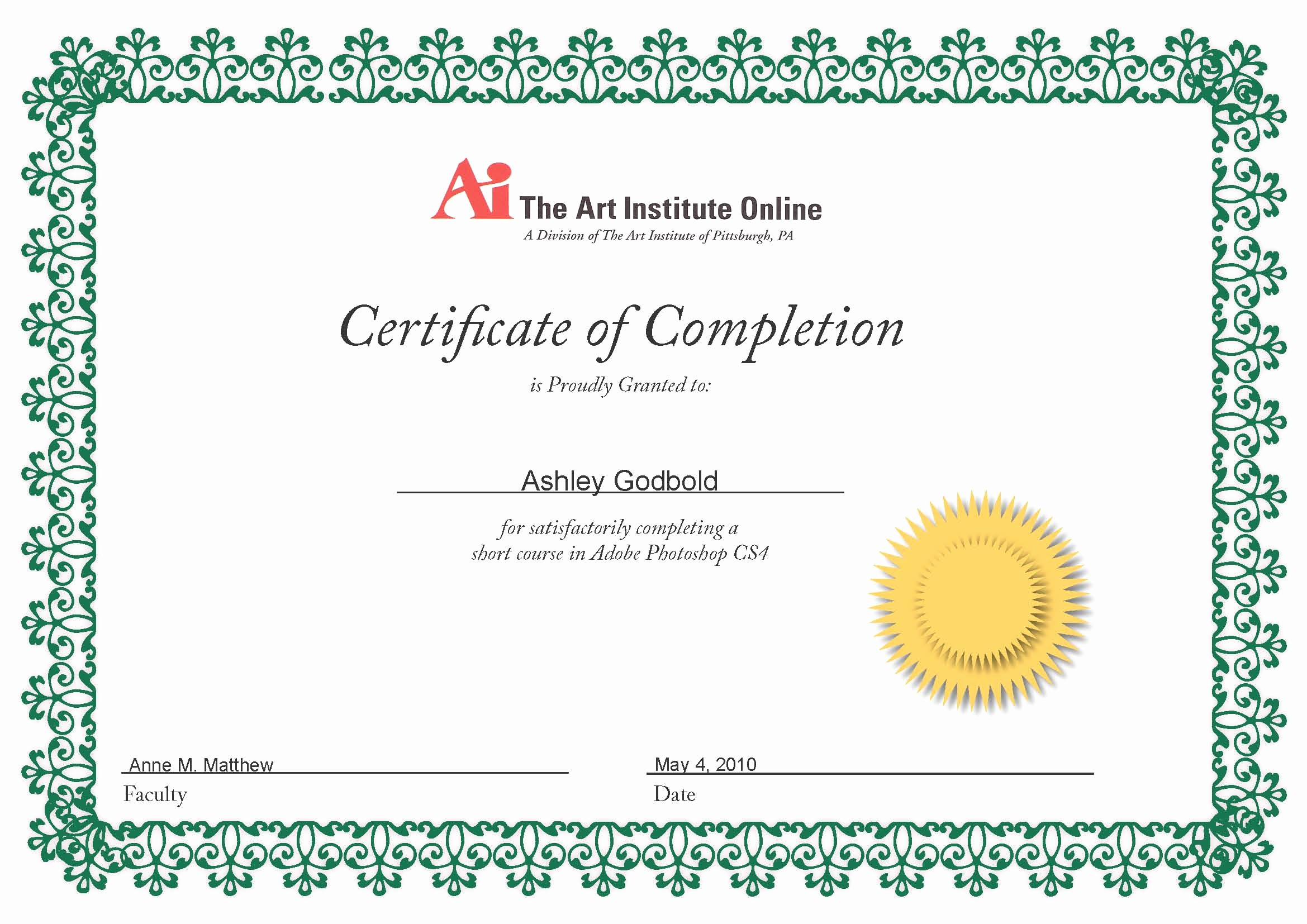 Templates for Certificates Of Completion New Create A Certificate Pletion to Pin On