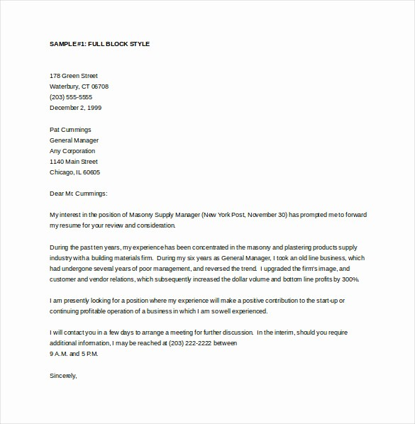 Templates for Cover Letters Free Beautiful 15 General Cover Letter Templates Free Sample Example