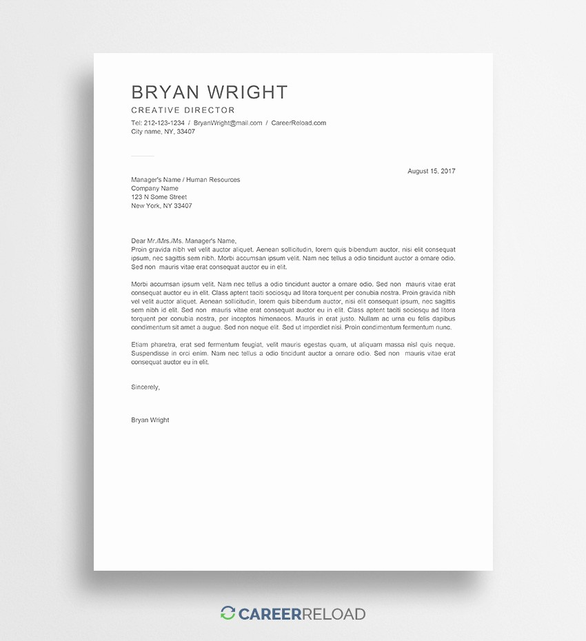 Templates for Cover Letters Free Lovely Free Cover Letter Templates for Microsoft Word Free Download