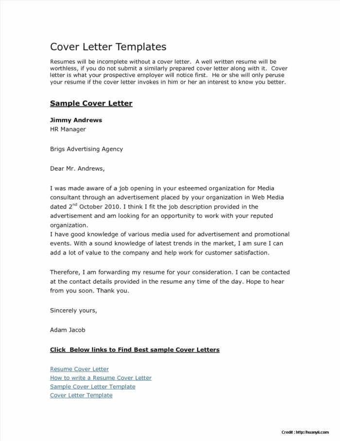 Templates for Cover Letters Free New Free Cover Letter Templates Microsoft Word 2007 Cover