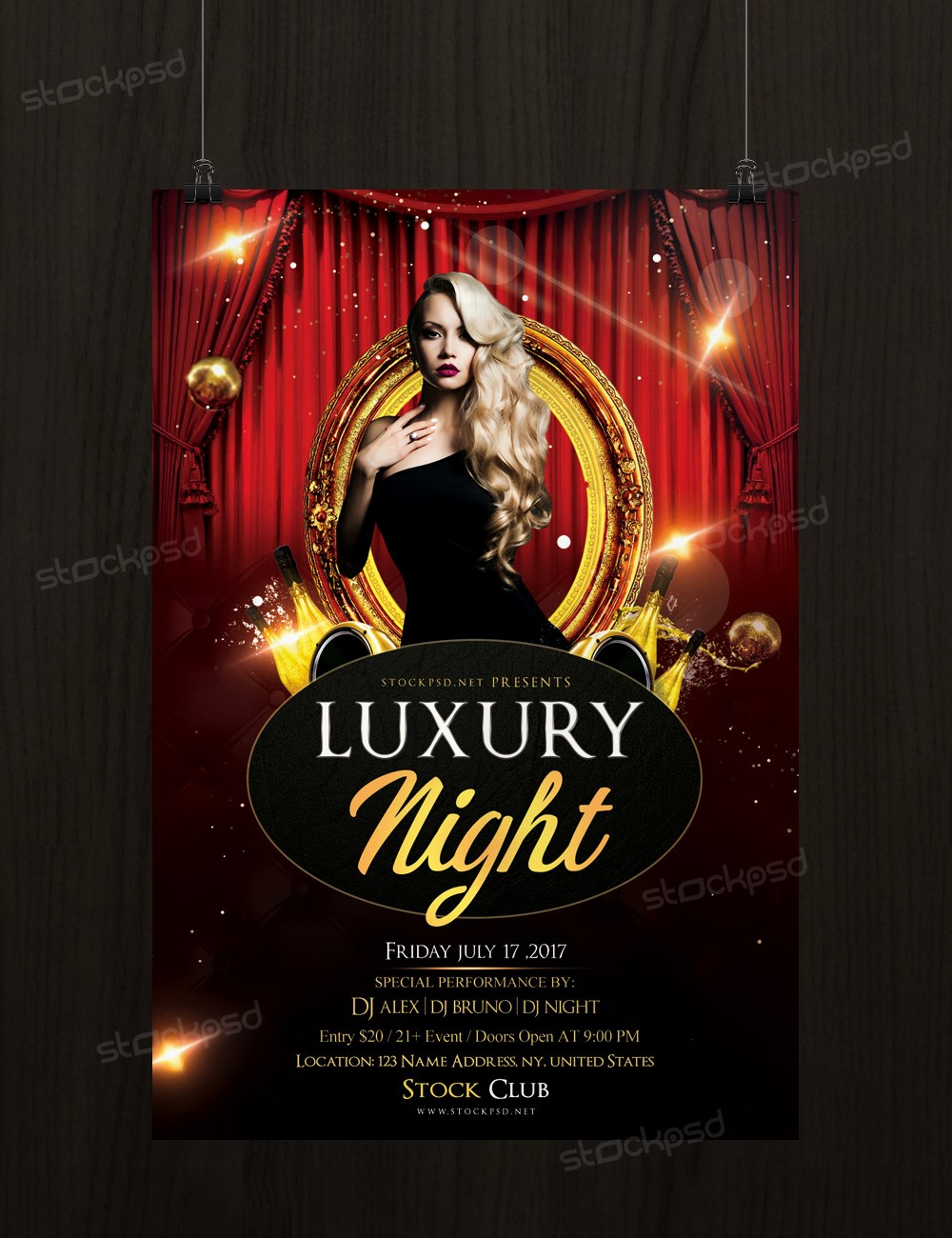 Templates for Flyers and Brochures Beautiful Luxury Night Free Psd Flyer Template Stockpsd