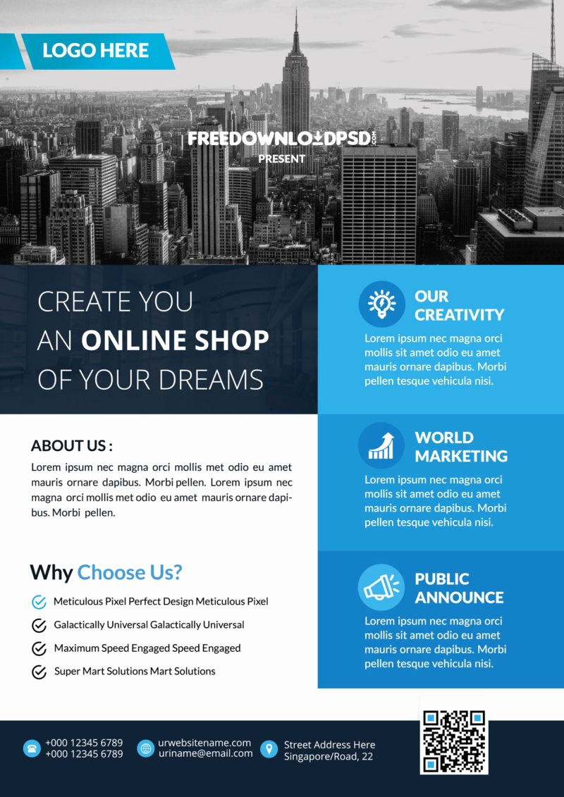 Templates for Flyers and Brochures Beautiful Real Estate Multipurpose Flyer