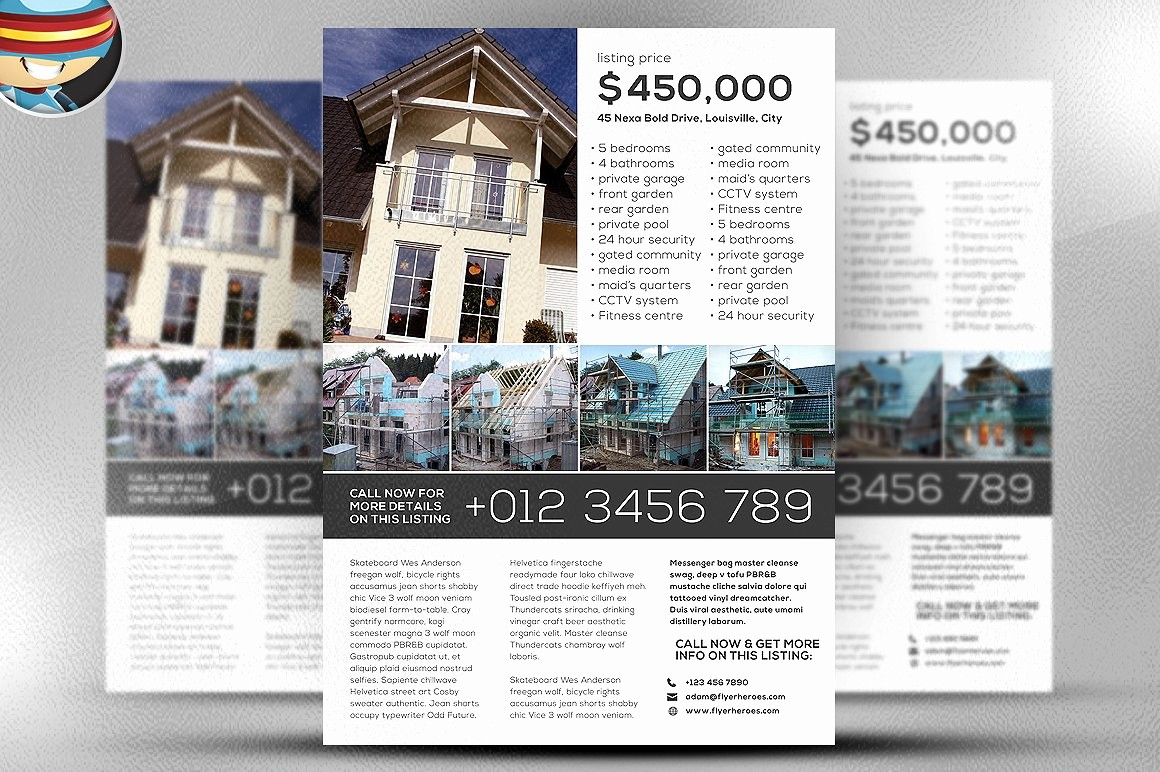 Templates for Flyers and Brochures Beautiful Simple Real Estate Flyer Template Flyer Templates