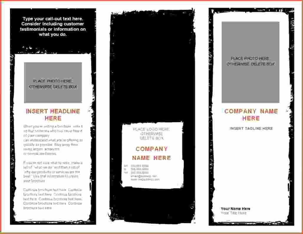 Templates for Flyers and Brochures Best Of 8 Microsoft Word Brochure Template Bookletemplate