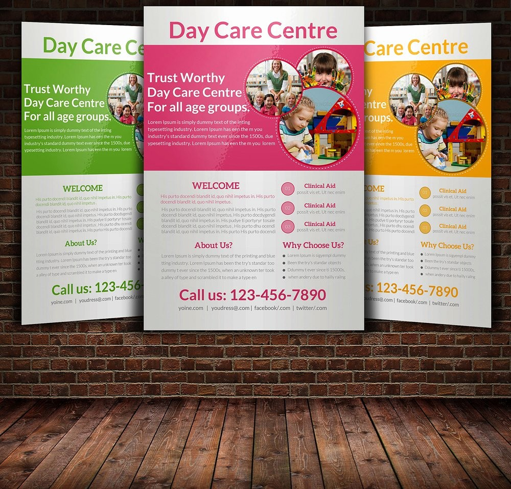 Templates for Flyers and Brochures Best Of Daycare Flyer Templates Flyer Templates Creative Market