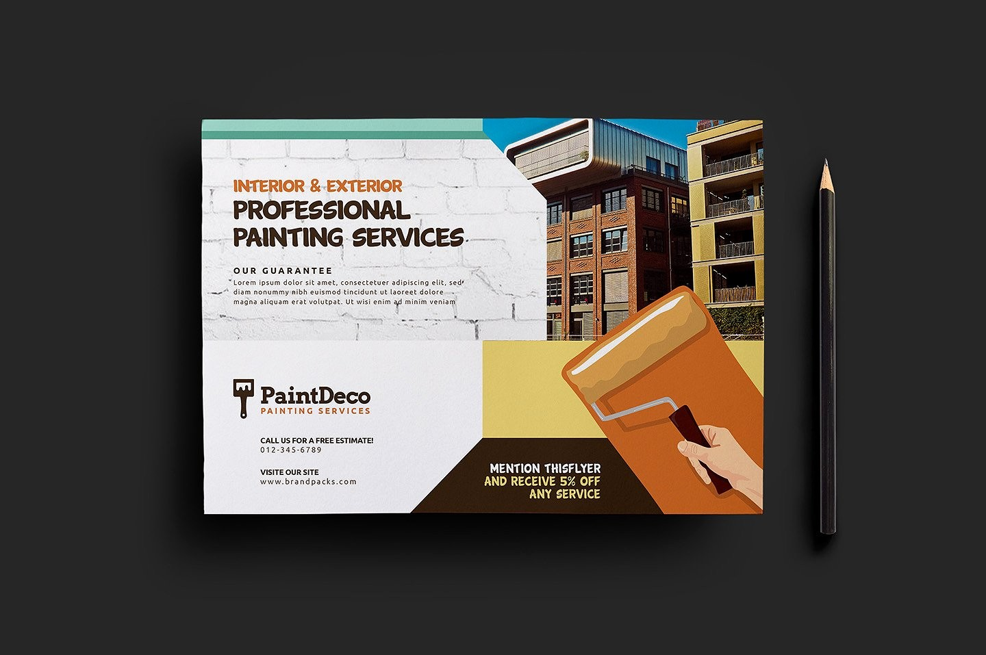 Templates for Flyers and Brochures Best Of Painter & Decorator Flyer Template 2 Flyer Templates