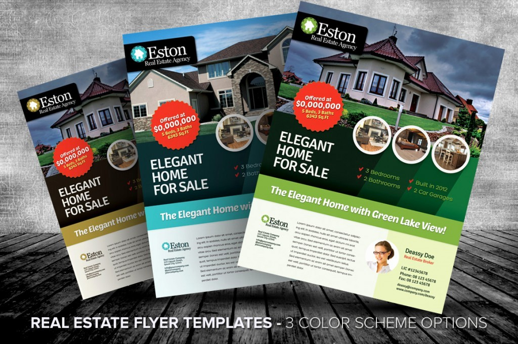 Templates for Flyers and Brochures Elegant Listing Flyers for Real Estate Agents and Homeowners