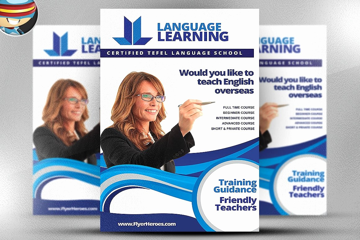 Templates for Flyers and Brochures Elegant Teaching Flyer Template Flyer Templates Creative Market