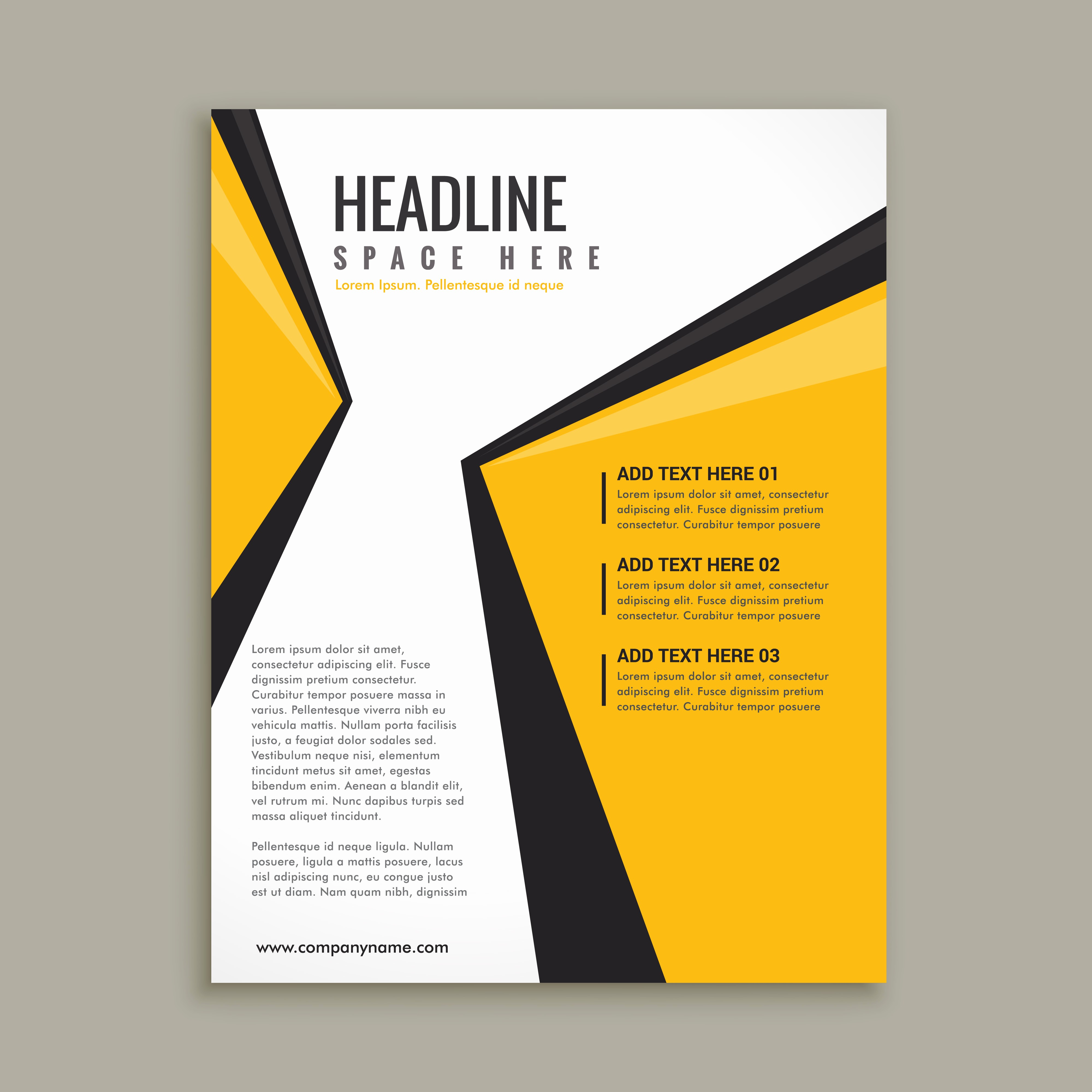 Templates for Flyers and Brochures Fresh Modern Business Flyer Brochure Template Download Free