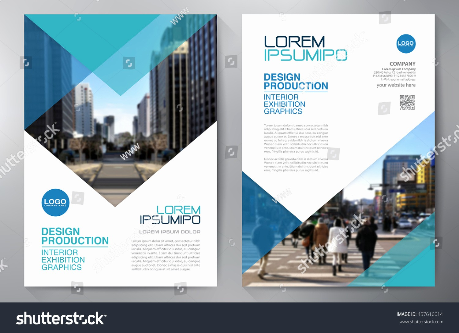 Templates for Flyers and Brochures Lovely Business Brochure Flyer Design A4 Template Stock Vector