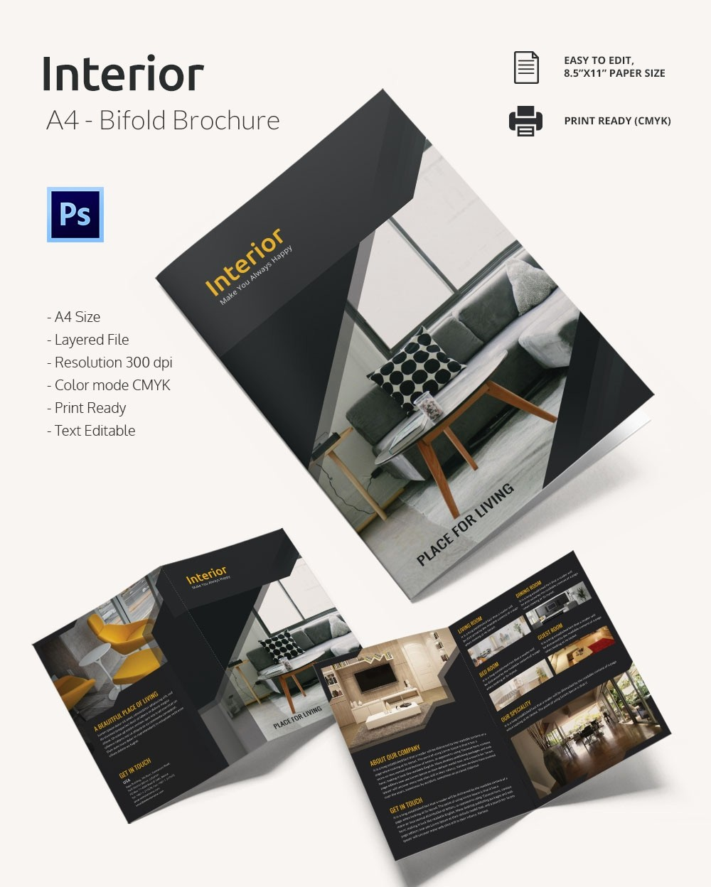 Templates for Flyers and Brochures Luxury Interior Design Brochure 25 Free Psd Eps Indesign