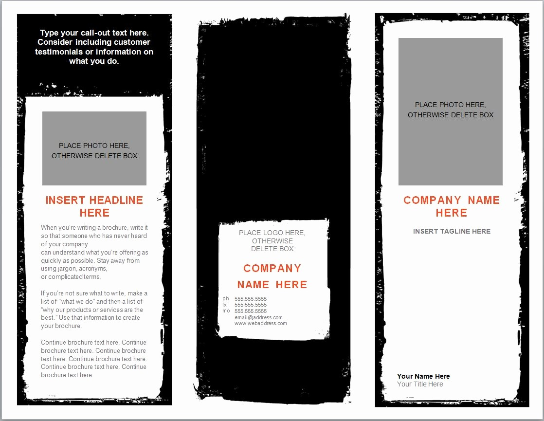 Templates for Flyers and Brochures Luxury Word Brochure Template