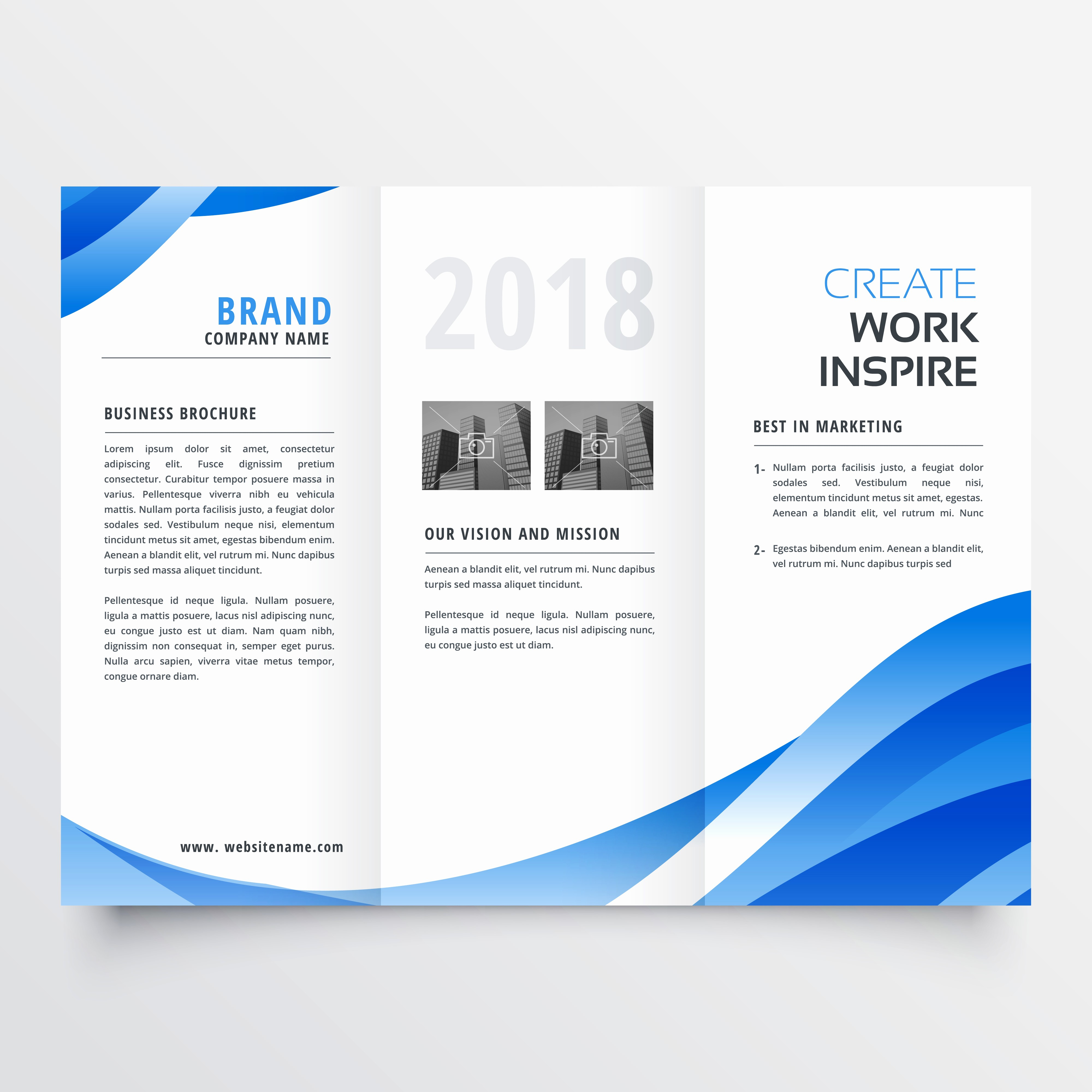 Templates for Flyers and Brochures New Creative Tri Fold Brochure Design Template with Trendy