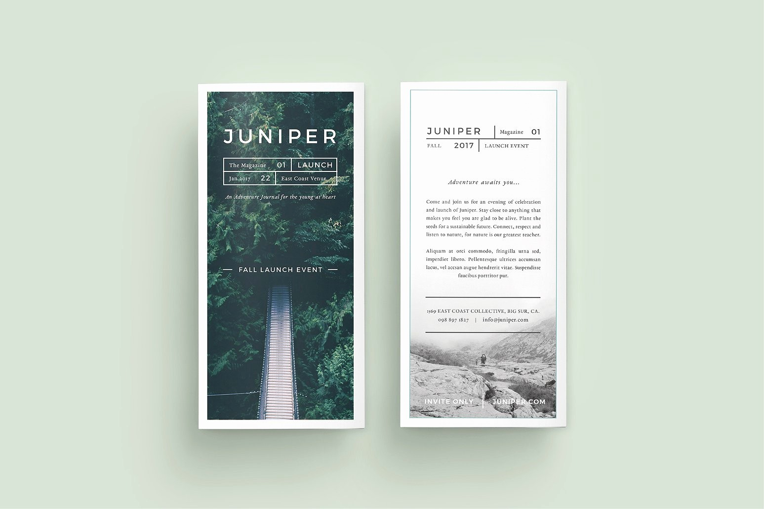 Templates for Flyers and Brochures New J U N I P E R Trifold Brochure Brochure Templates