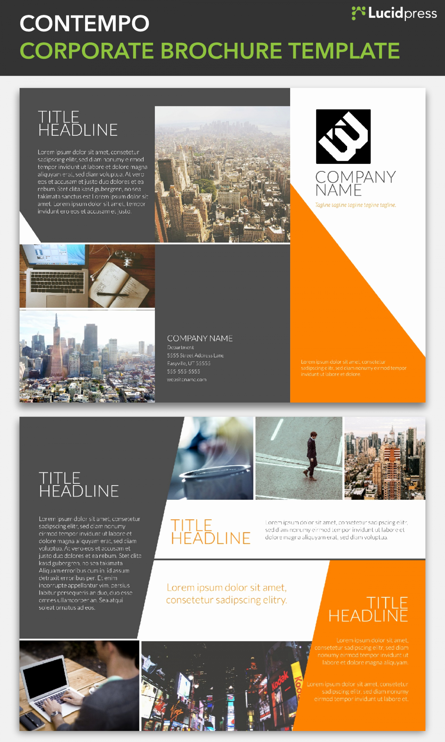 Templates for Flyers and Brochures Unique Corporate Brochure Template Lucidpress