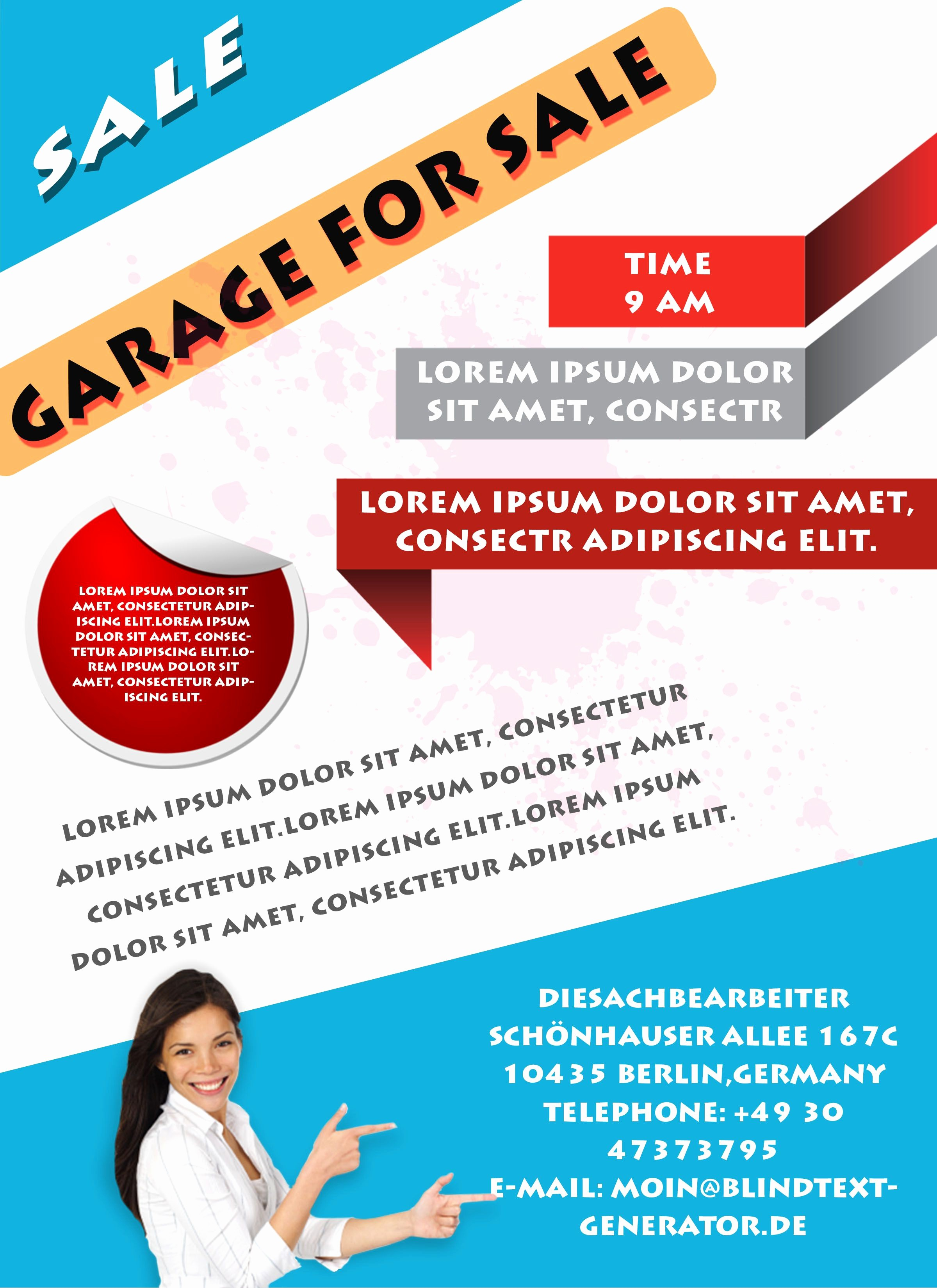 Templates for Flyers and Brochures Unique Free Printable Garage Sale Flyers Templates attract More