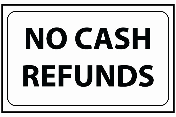 Testing In Progress Sign Pdf New Printable No Cash Refunds Sign